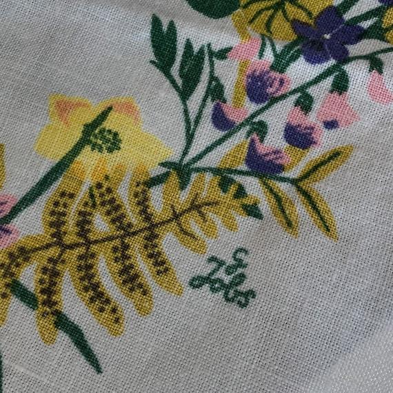 Scandinavian linen small square tablecloth Gocken and Jobs design 1950s