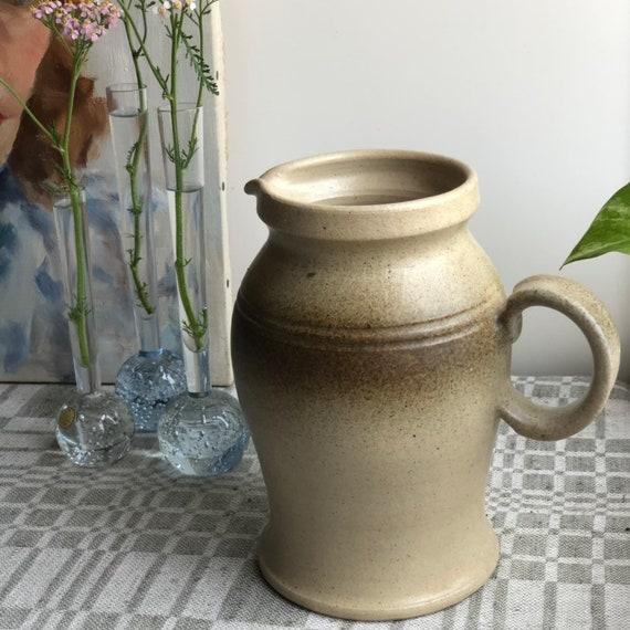 Vintage skottorps vase picture milk jug Sweden midmod midcentury modern stoneware