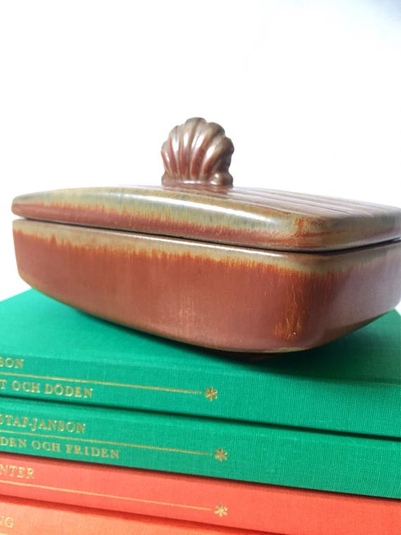 Gunnar Nylund ceramic trinket box ceramic box/lid/art nouveau /art deco chinoiserie