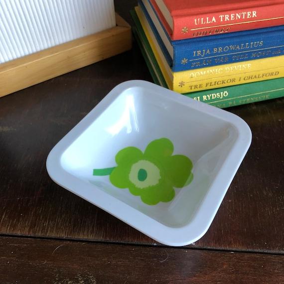 Melamine small bowl with Unikko pattern by Marimekko green poppy design Zak designs