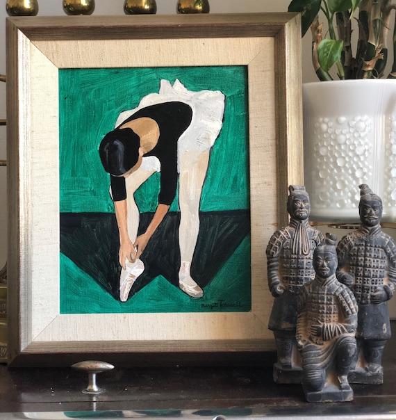 Ballerina by Birgit Forsell 1966 oil on canvas Sweden / original