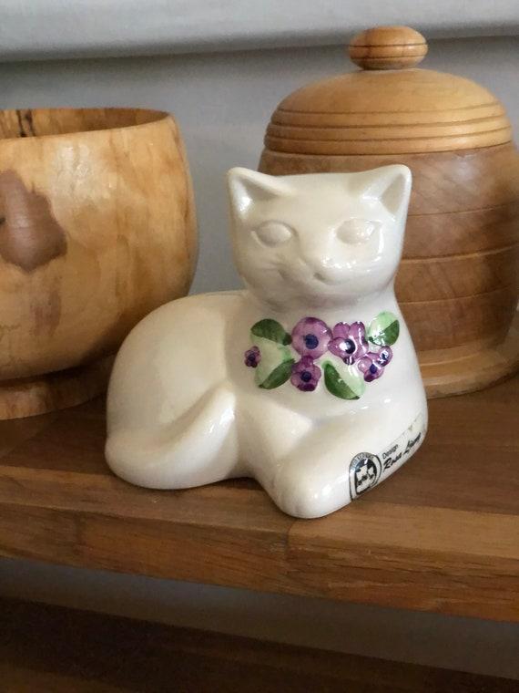 Rosa Ljung cat figure modcentury modern Scandinavian purple flowers Swedish