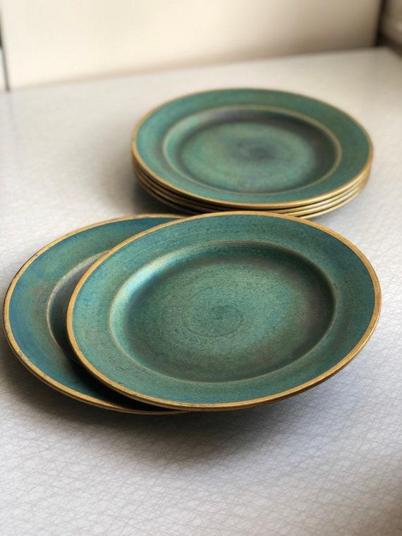 Swedish earthenware plates designed by Josef Ekberg, 1920s for Gustavsberg set of 6