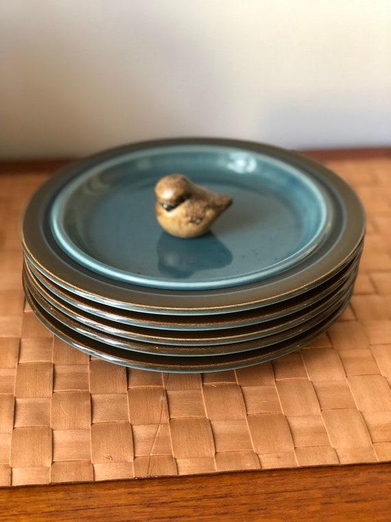 Arabia Meri Finland sandwhich side Plates Stoneware Scandinavian Finnish Design