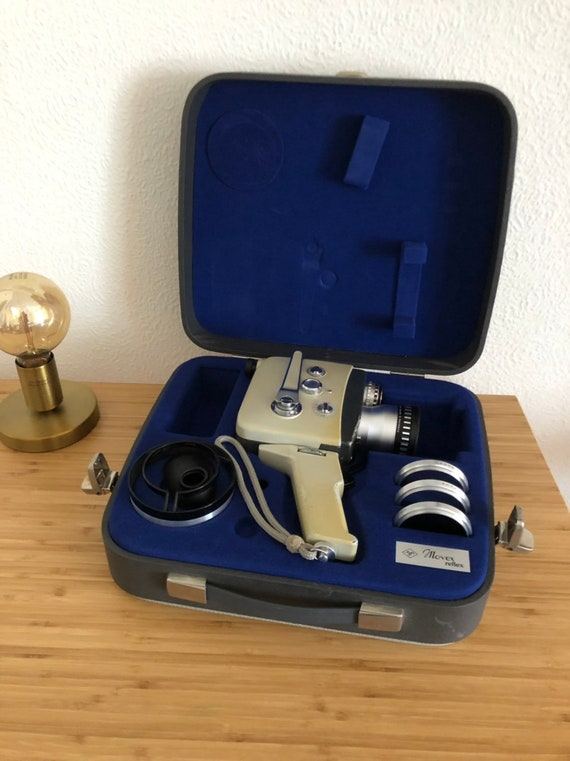 Agfa Berlin Movex Reflex c1963 8mm movie camera with case and accessories