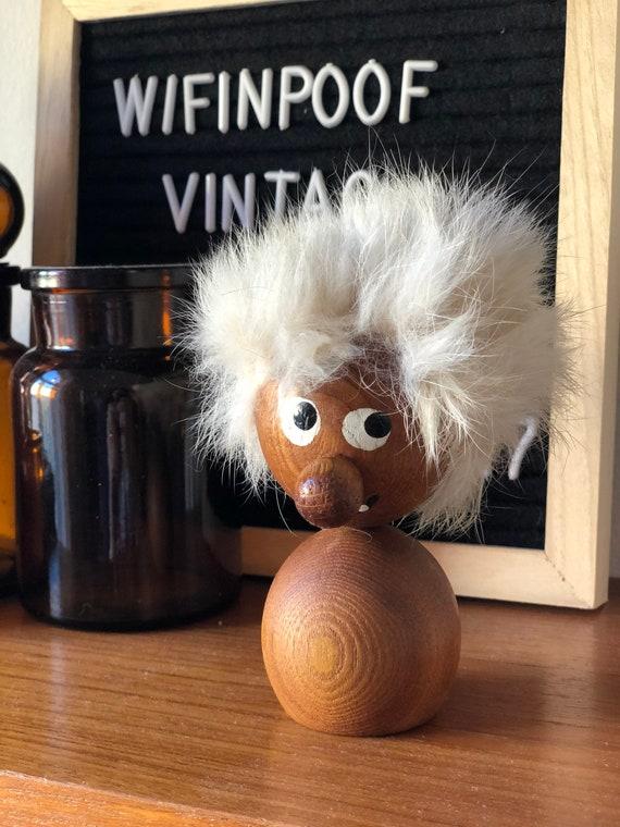 Swedish teak troll figurine Scandinavian design midcentury modern  modernist 1960s made in Sweden