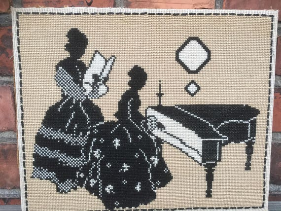 Victorian /Cross Stitch/needlepoint/Jane Austen/picture/wall/hanging/nanna chic/grandma chic/granny chic