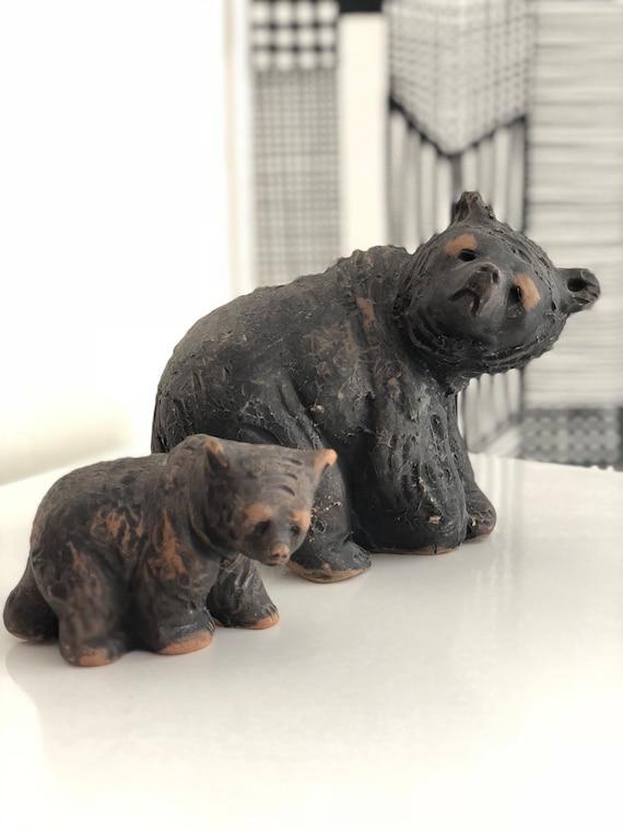 Tilmans keramik Sweden ceramic bear figurines 1950s Scandinavian design bears