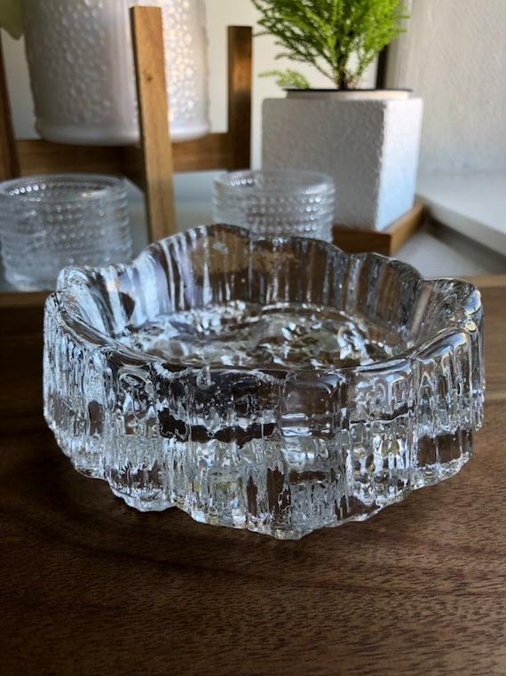 Tapio Wirkkala Iittala Finland Seita design 1976 Ice glass Finnish design midcentury modern Scandinavian