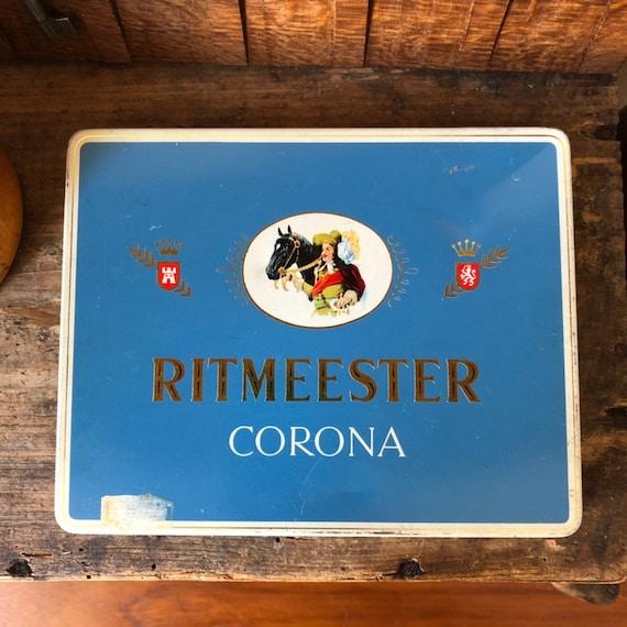 Ritmeester corona cigarette tin box cigarette  cigarettes  tobacco / Holland