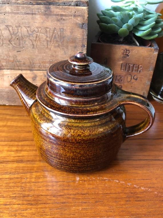 Small Arabia Finland teapot designed by Ulla Procope Finland  mid century earth tones