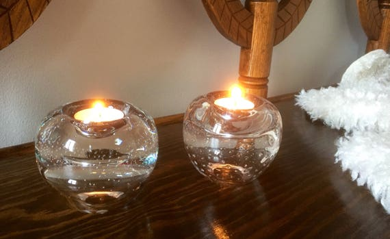 SEA Glass/candle holders/Renate Stock/crystal/scandinavian/candle/warmers/votives/