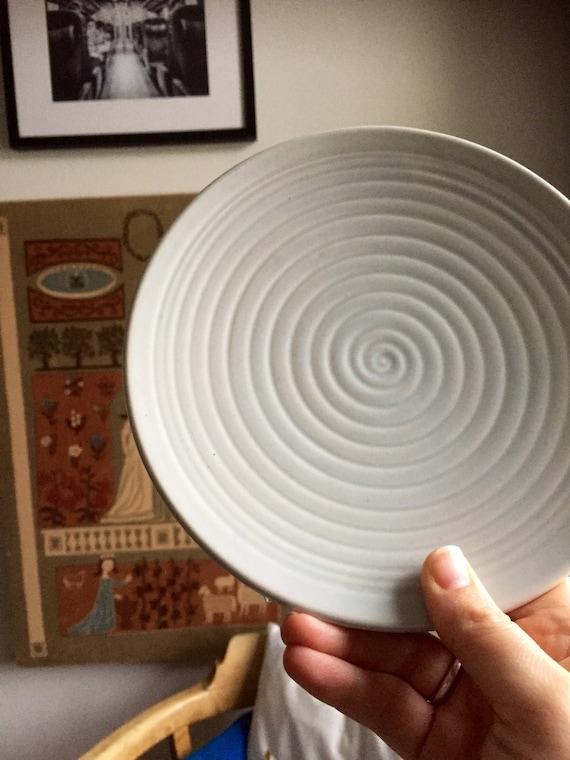 Set of 8/ Bo Fajans/Vintage /berit ternell/Gefle/Sweden/appetizer/ sandwich/plates/ceramic/ 1950s