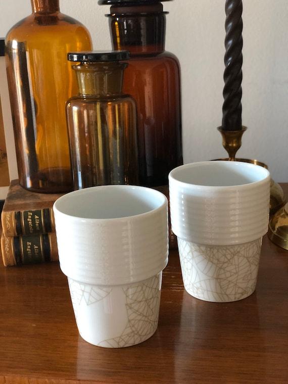 Pair of Filippa K coffee cups / mugs minimalistic mugs stackable