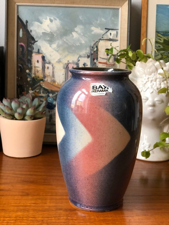 80s Bay west german pottery vase fat lava seires 65017