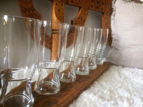 set of 6 Swedish beer glasses stiens pints 1980s modern craft beer