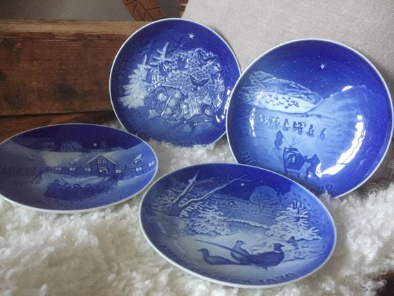 Scandinavian/Bing and Gröndahl/B and G /Danish/collectable/CHRISTMAS PLATES/ 1969, 1979, 1972, 1981/sold individually/denmark
