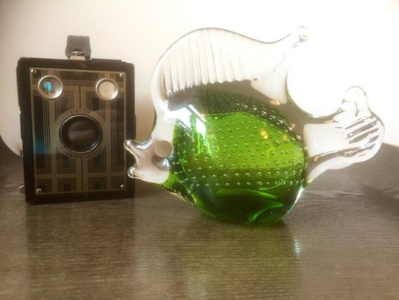 Bergdala/Fish/Art glass/hand blown/soft glass fish figurine 1970s