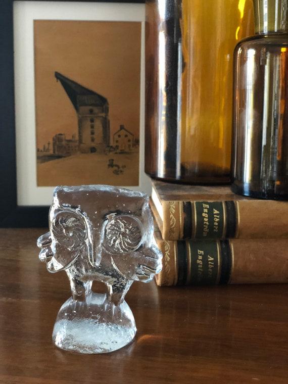 Bertil vallien kosta boda glass owl figurine owl lover gift