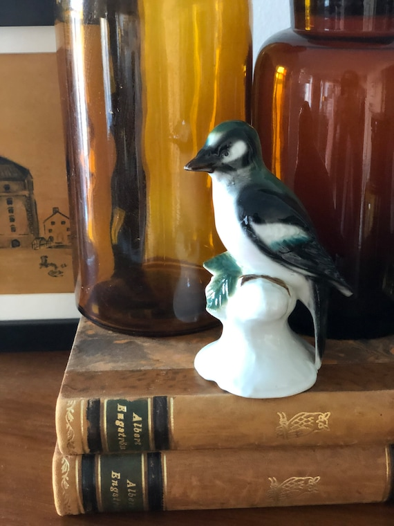 G&H and co bird figurine midcentury ceramics signed stamped chinoiserie