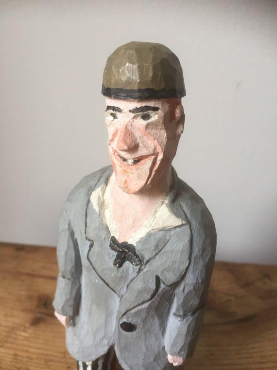 Swedish/hand carved/ginger /character man figurine /hand painted/ woodworking