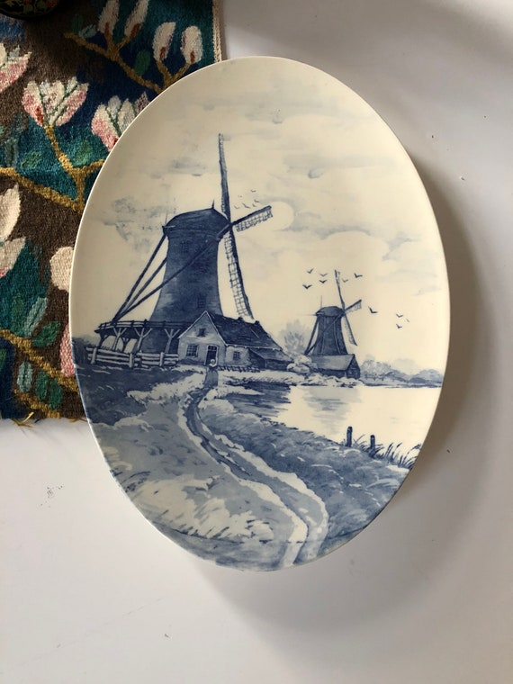 Wächtersbach /Delft Blue /decorative plate/ blue and white traditional/ wall plate/ Ceramic/plate wall