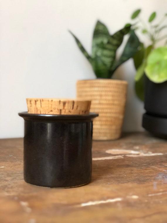 Stig lindberg jar Mustard Pot / Mustard Jar Pottery Gustavsberg Sweden Scandinavian Design Apoteken /kitchen storage