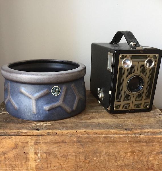 Vintage/Upsala Ekeby/ Tobaksburk/ Camilla/ design/Ingrid Atterberg/ bowl/scandinavian modern/art deco/art nouveau/tobacco jar