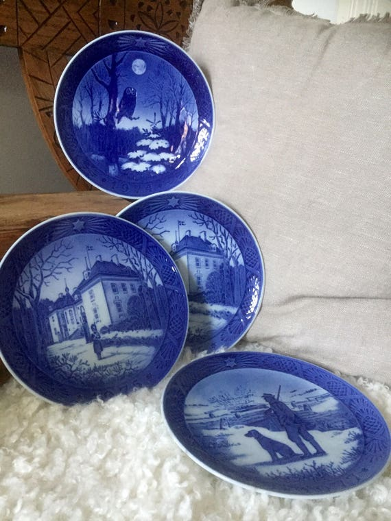 Scandinavia/Danish/Royal Copenhagen/collectable/CHRISTMAS PLATES/ 1975, 1974, 1977,/sold individually/limited edition