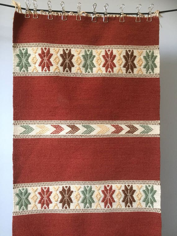 Large Swedish folk art kilim woven rug hand loomed wall hanging traditional boho / Scandinavian boho / scandi boho / nomadic bohemian