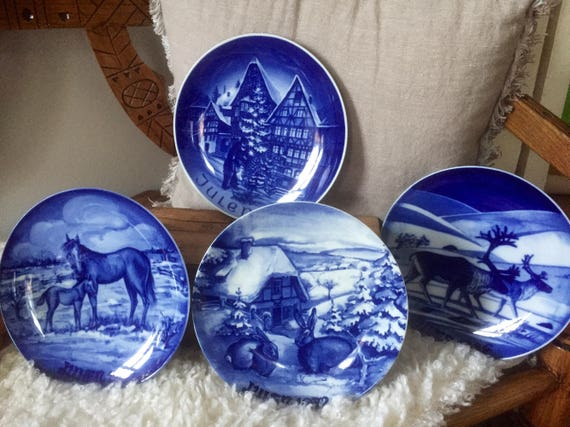 Scandinavian/German/Swedish/collectable/CHRISTMAS PLATES/ 1972, 1974, 1980, 1986/sold individually