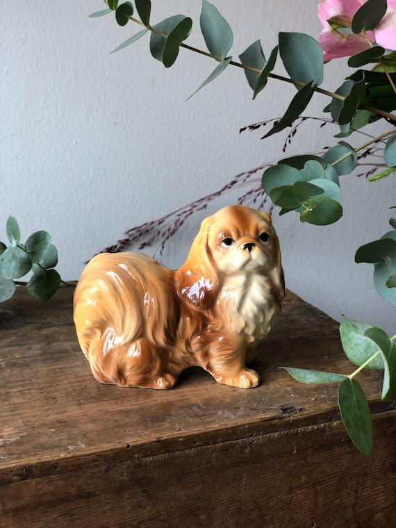 Vintage King Charles Cavelier porcelain dog figurine 1950s excellent condition