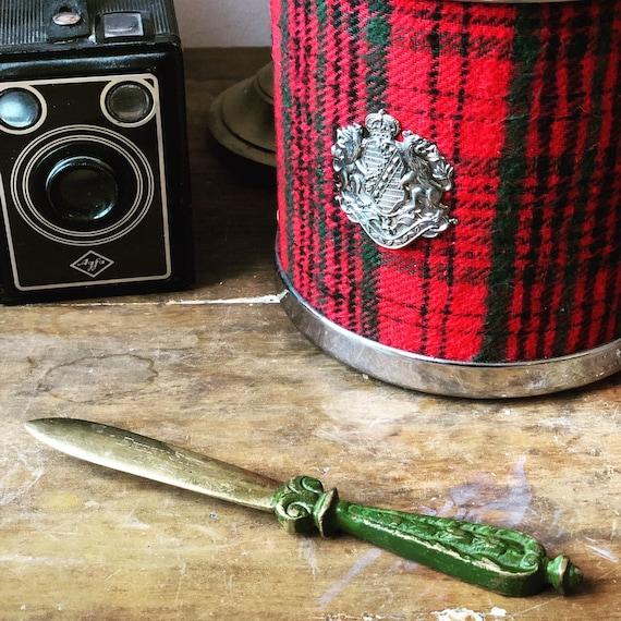 Vintage Bronze / Bronse letter opener /page tuner / stamped 1948 Ekeby SKE made in Sweden / Swedish