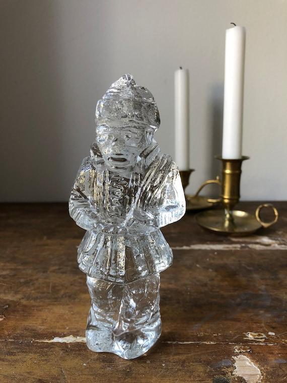 Nordic native Samer / first nations / glass sculpture paperweight crystal pukeberg 1970s uno westerberg Scandinavian native