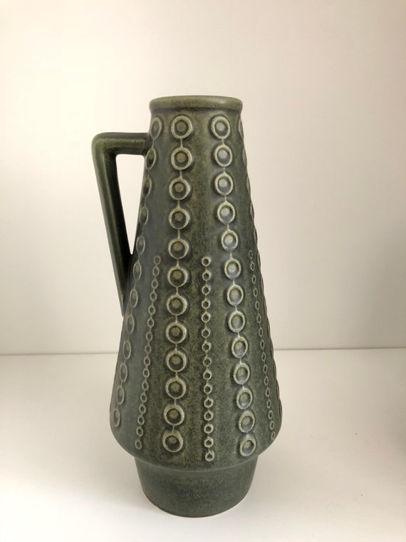 Ilkra East German vase midmod green modernist design