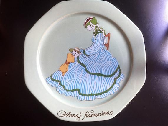 Anna Karenina/wall plate/art nouveau/Scandinavian/höganas/designed by Åke Arenhill/