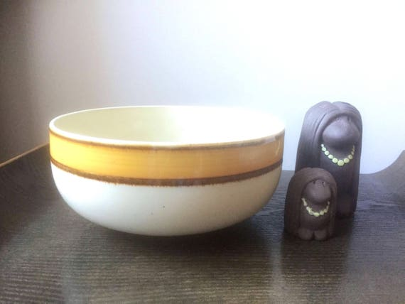 Vintage/Rainbow stoneware/serving/bowl/Sunkiss/showa/made in Japan/Citron/moderist/lemon