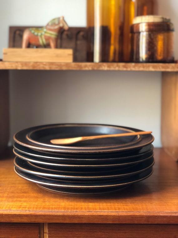 Arabia Ruska dinner plates from Ruska series Ulla procope Finland 1960s Finnish