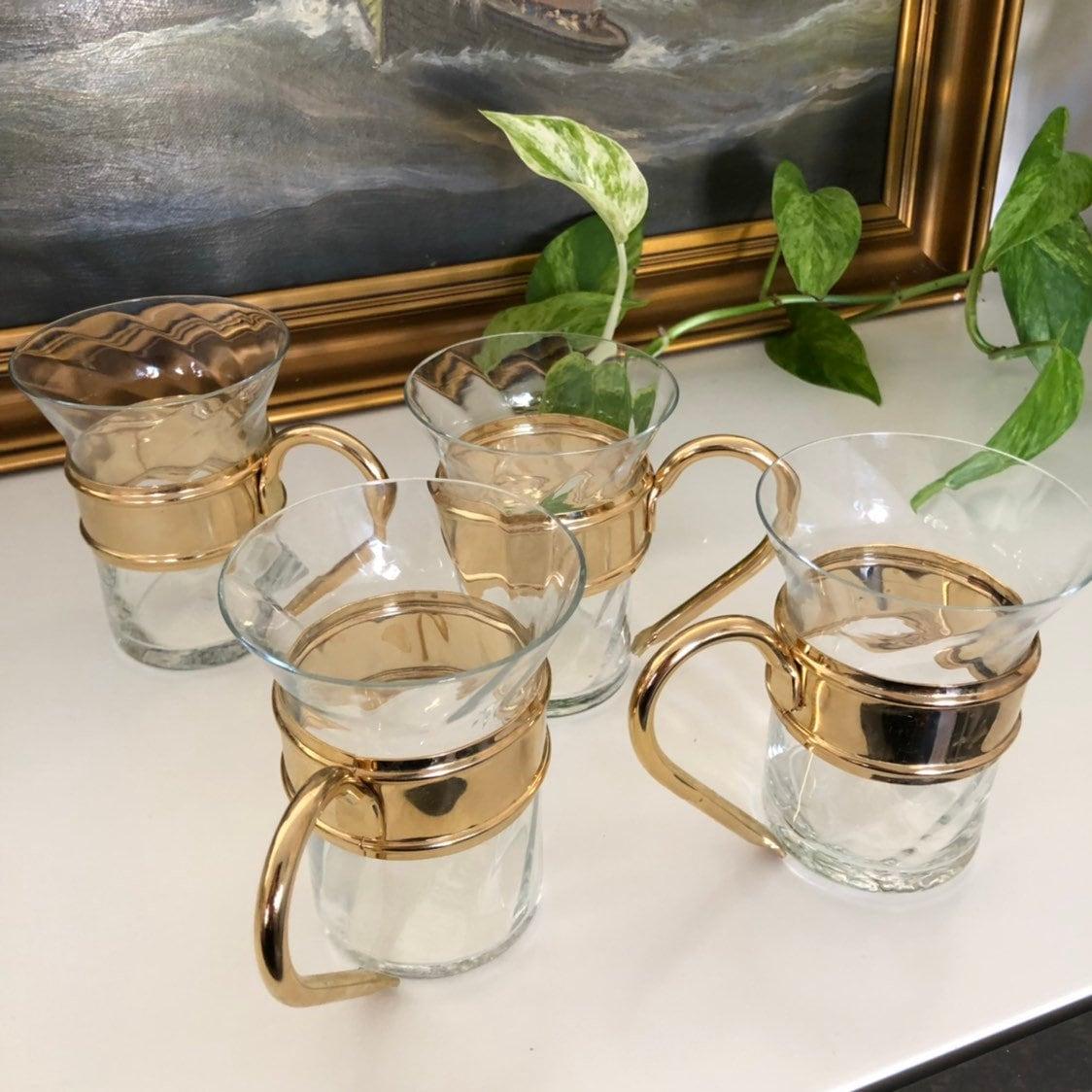 Set Of 4 Scandinavian Hot Beverage Glasses Glögg Mulled