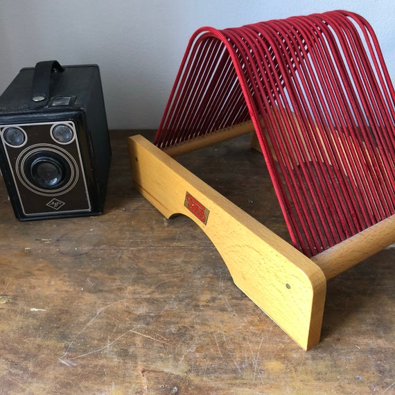 Vintage Scandinavian record stand from Tono 1960s for 25 records