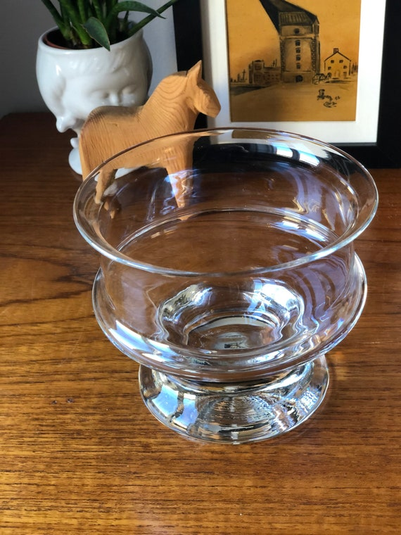 Signe Persson Melin Boda footed glass bowl on pedestal from the Porter series