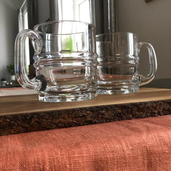 Set of 2 Iittala Ripple beer glasses designed by Timo Sarpaneva Iittala Finland 1960s