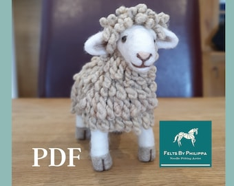 PDF Pattern File for Susie Sheep - Needle Felted Animal/Sheep/Lamp/Flock/Felting/Download/Felted/Tutorial/How to