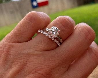 f0e3e34897a 2.0mm FULL Petite Eternity Bubble   Breathe Floating Band 14K White Gold  F G VS2 SI 0.78ctw Diamond Ring  Wedding Ring  Wedding Band