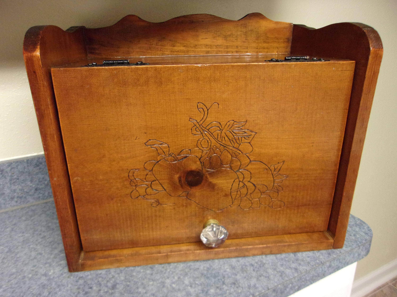 Vintage Long Pine Box Antiques Antique Furniture