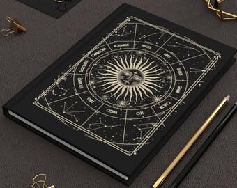 Tarot journal Hardcover Journal Celestial Sun Moon Tarot Card Astronomy Gift Astrology