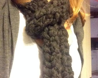 Black Knit Scarf