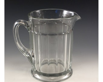 Vintage Clear Glass 32 ounce Beer Pitcher