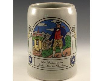 Das Wandern ist des Muller Lust das Wandern - Ceramic Beer Stein