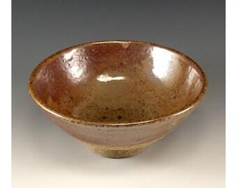 Vintage Wheel Thrown Pottery Bowl